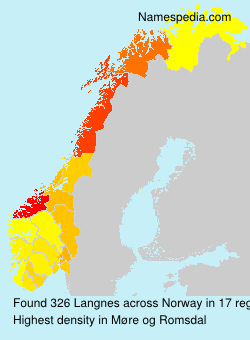Surname Langnes in Norway