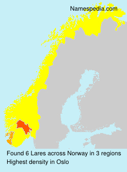 Surname Lares in Norway