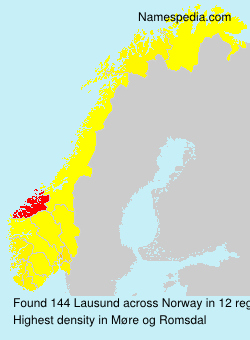 Surname Lausund in Norway