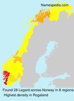Surname Legard in Norway
