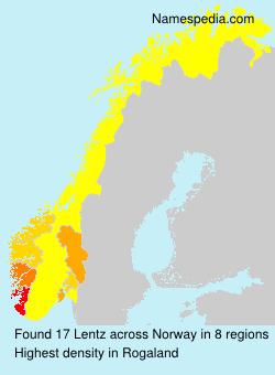 Surname Lentz in Norway
