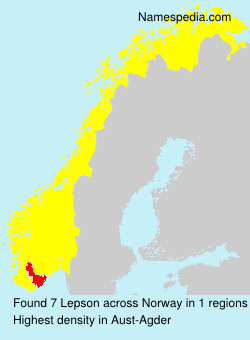 Surname Lepson in Norway