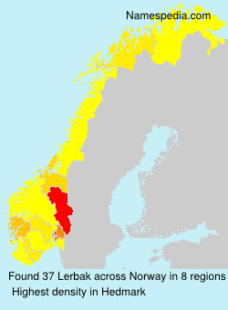 Surname Lerbak in Norway