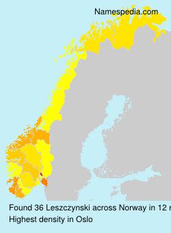 Surname Leszczynski in Norway