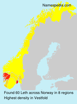 Surname Leth in Norway