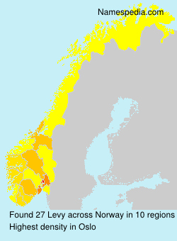Surname Levy in Norway
