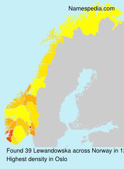 Surname Lewandowska in Norway