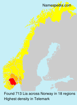 Surname Lia in Norway