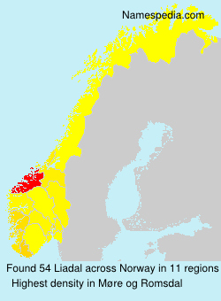 Surname Liadal in Norway