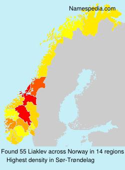 Surname Liaklev in Norway