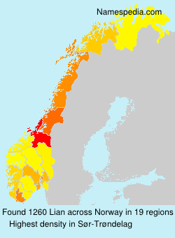 Surname Lian in Norway