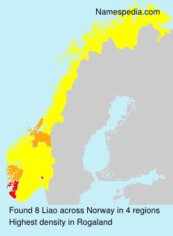 Surname Liao in Norway