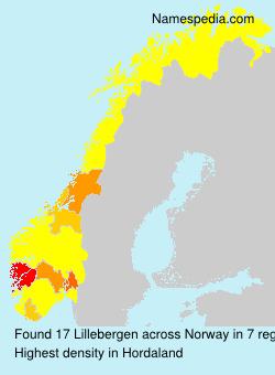 Familiennamen Lillebergen - Norway