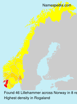 Surname Lillehammer in Norway