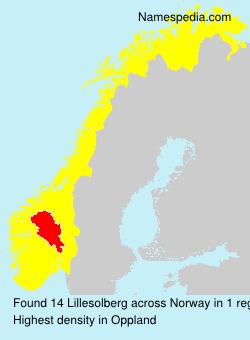 Familiennamen Lillesolberg - Norway