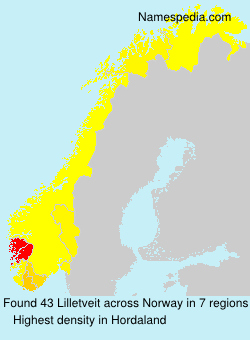 Surname Lilletveit in Norway