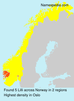Surname Lilli in Norway