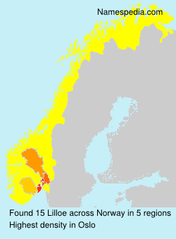Surname Lilloe in Norway