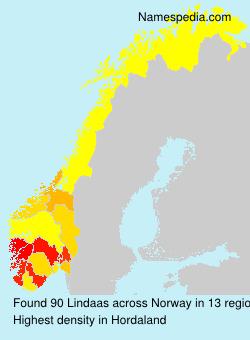 Familiennamen Lindaas - Norway