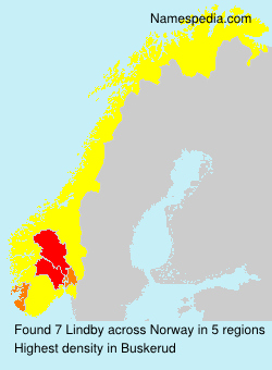 Surname Lindby in Norway