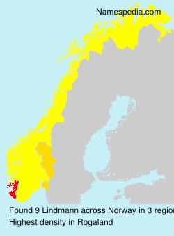 Surname Lindmann in Norway