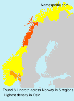 Surname Lindroth in Norway