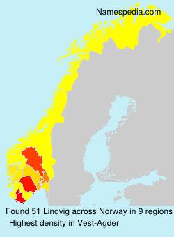 Familiennamen Lindvig - Norway