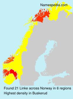 Surname Linke in Norway