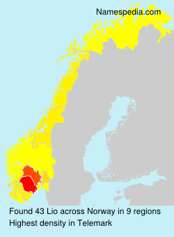 Surname Lio in Norway