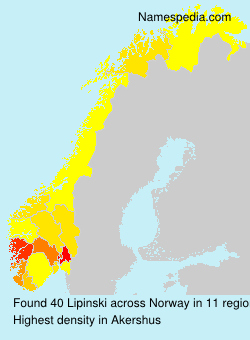 Surname Lipinski in Norway