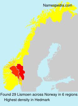 Surname Lismoen in Norway