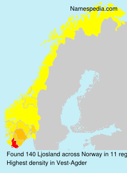 Surname Ljosland in Norway