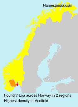 Surname Loa in Norway