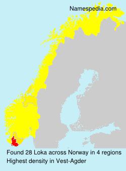 Surname Loka in Norway