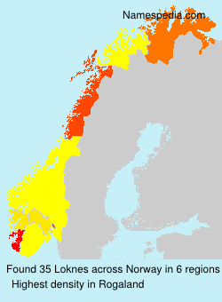 Surname Loknes in Norway