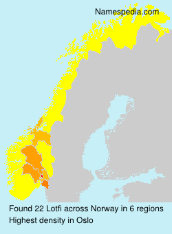 Surname Lotfi in Norway