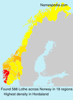Surname Lothe in Norway
