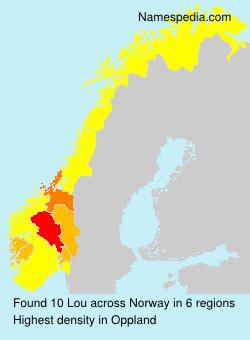 Familiennamen Lou - Norway