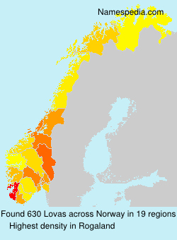 Surname Lovas in Norway