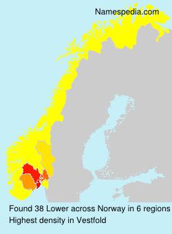 Surname Lower in Norway