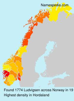 Surname Ludvigsen in Norway