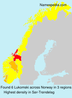 Surname Lukomski in Norway