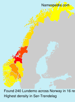 Surname Lundemo in Norway