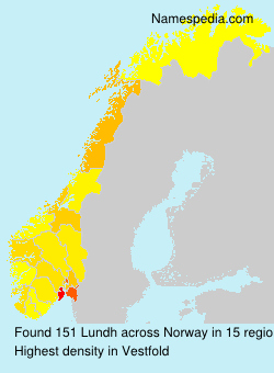 Surname Lundh in Norway