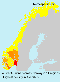 Surname Lunner in Norway