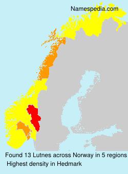 Familiennamen Lutnes - Norway