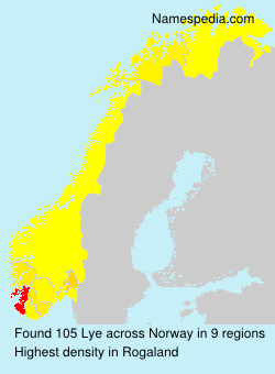 Surname Lye in Norway