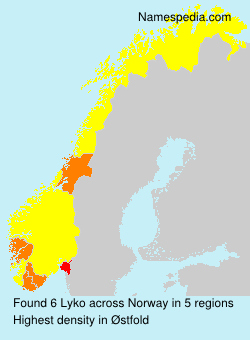 Surname Lyko in Norway