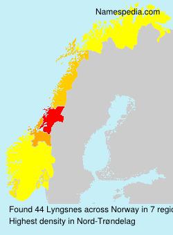 Surname Lyngsnes in Norway
