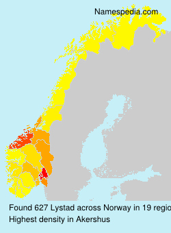Surname Lystad in Norway